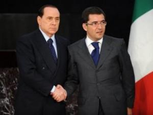 Nicola Cosentino con Silvio Berlusconi