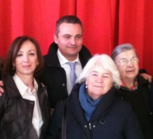 Sandra Zampa, Raffaele Donini, Amelia Frascaroli e Fosca Prodi