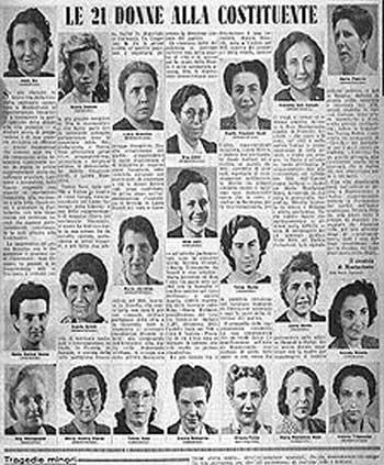 70 anni di voto alle donne ricordare le costituenti e for Elenco dei deputati